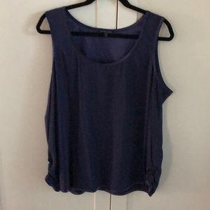 Sleeveless silky top